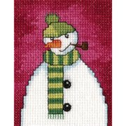 "Snowmen VI Snowman W/Pipe Counted Cross Stitch Kit-2.75""X3.5"" 14 Count"