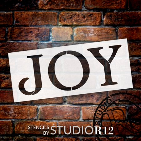 joy stencil by studior12 reusable mylar template use to paint