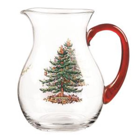 Spode Christmas Tree Dishwasher Safe - Spode Christmas Tree DOF Glasses with Gold Rims 14 Ounce-Set of 4