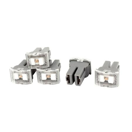 Unique Bargains 5 Pcs Gray 120A 32V Female Plug in  Cartridge PAL Fuse for