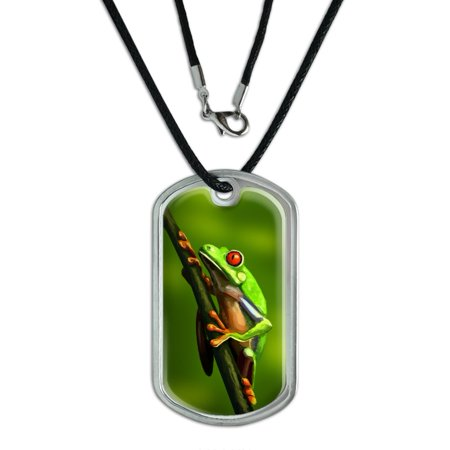Green Red Eyed Tree Frog - Rainforest Dog Tag
