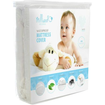 Milliard Premium Baby Crib Mattress Pad Hypoallergenic Waterproof Quilted Cotton Blend , 28
