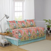 Better Homes and Gardens 5 Piece Jeweled Damask Daybed Bedding Set, Shams and Bedskirt Included