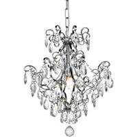 """Elegant Lighting LD4004D16 Chrome Vivian 1 Light 16"""" Wide Crystal Mini Chandelier"""