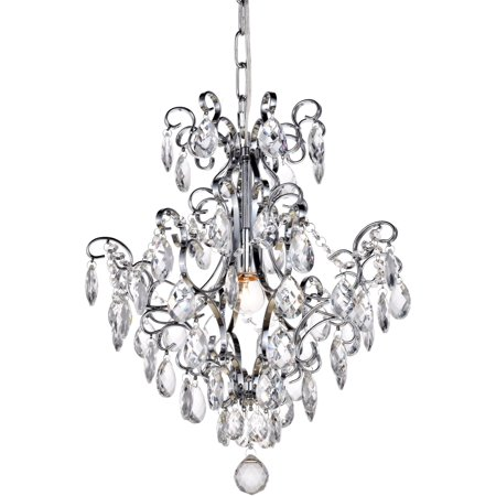 16 in. 1-Light Pendant in Chrome