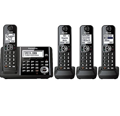 Panasonic DECT 6.0 Expandable Digital Bluetooth Cordless Phones with Talking Caller ID and Digital Answering... by
