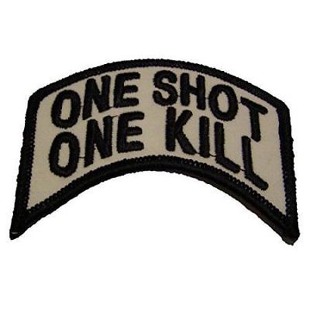 ONE SHOT ONE KILL SNIPER PATCH SHOOTER RIFLEMAN GUN