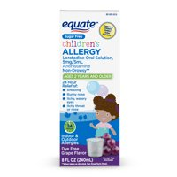 Equate Childrens Loratadine Oral Solution 5 mg/5 mL, Allergy Relief ,8 fl oz