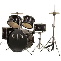 Learn to Play GP Percussion 5-Piece Junior Drum Set (Black)