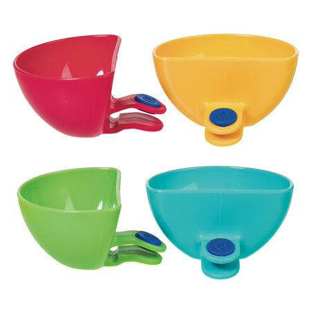 Prepworks by Assorted Dip Clips - Set of 4, Set of 4 mini side bowls in bright colors that clip on plates; soft grip material securely clings onto.., By Progressive