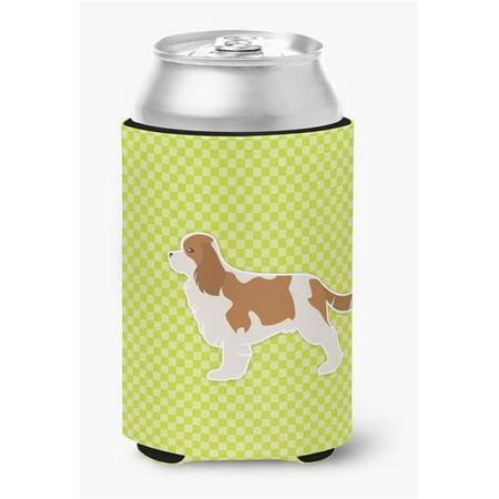 Cavalier King Charles Spaniel Checkerboard Green Can or Bottle Hugger - image 1 de 1
