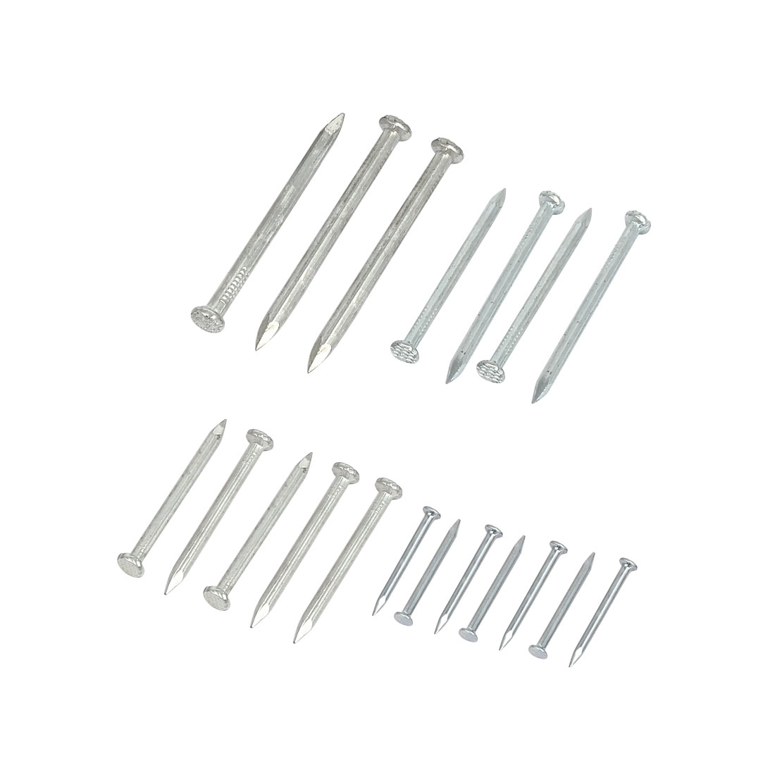 Metal Point Tip Wire Nail Silver Tone 20 in 1 for Fiber Concrete Cement Wall