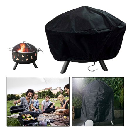 30 Inch Heavy Duty Water Wand - EEEKit Full Coverage Round Fire Pit Cover, Heavy Duty, Waterproof and Weather Resistant Outdoor Table/Bowl Furniture Cover, 30 Inch, Black