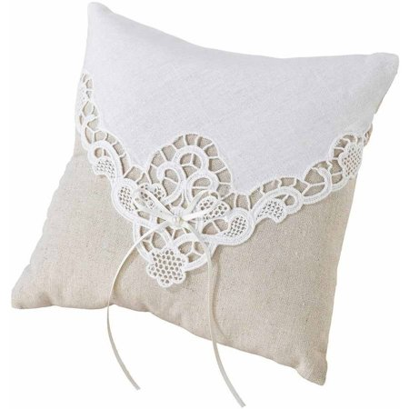 Lillian Rose Country Lace Ring Bearer (Lace Heart Pillow)
