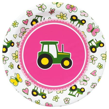 John Deere Plate - John Deere Pink - Dessert Plate (16)