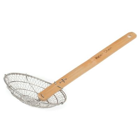 Spider Skimmer (Helen Chen's Asian Kitchen Stainless Steel Spider Strainer with Natural Bamboo Handle, 5-Inch Strainer Basket )