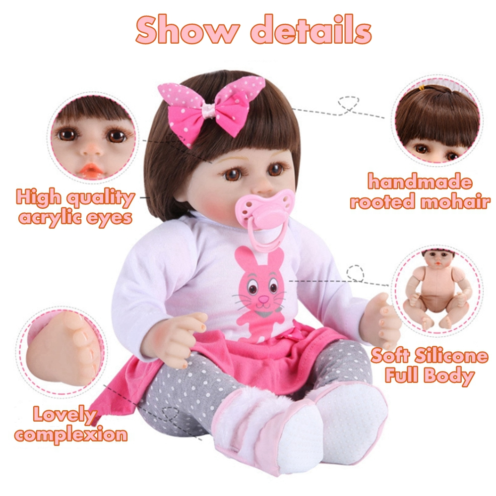 "19/""Reborn Baby Dolls Realistic Newborn Lifelike Vinyl Boy Baby Doll  Handmade"