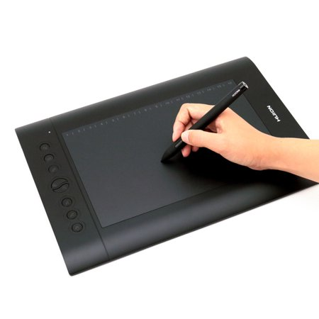 Huion H610 Pro Graphic Drawing Tablet Tilt Function Battery-Free Stylus and 8192 Pen Pressure with 8 Pen Nibs