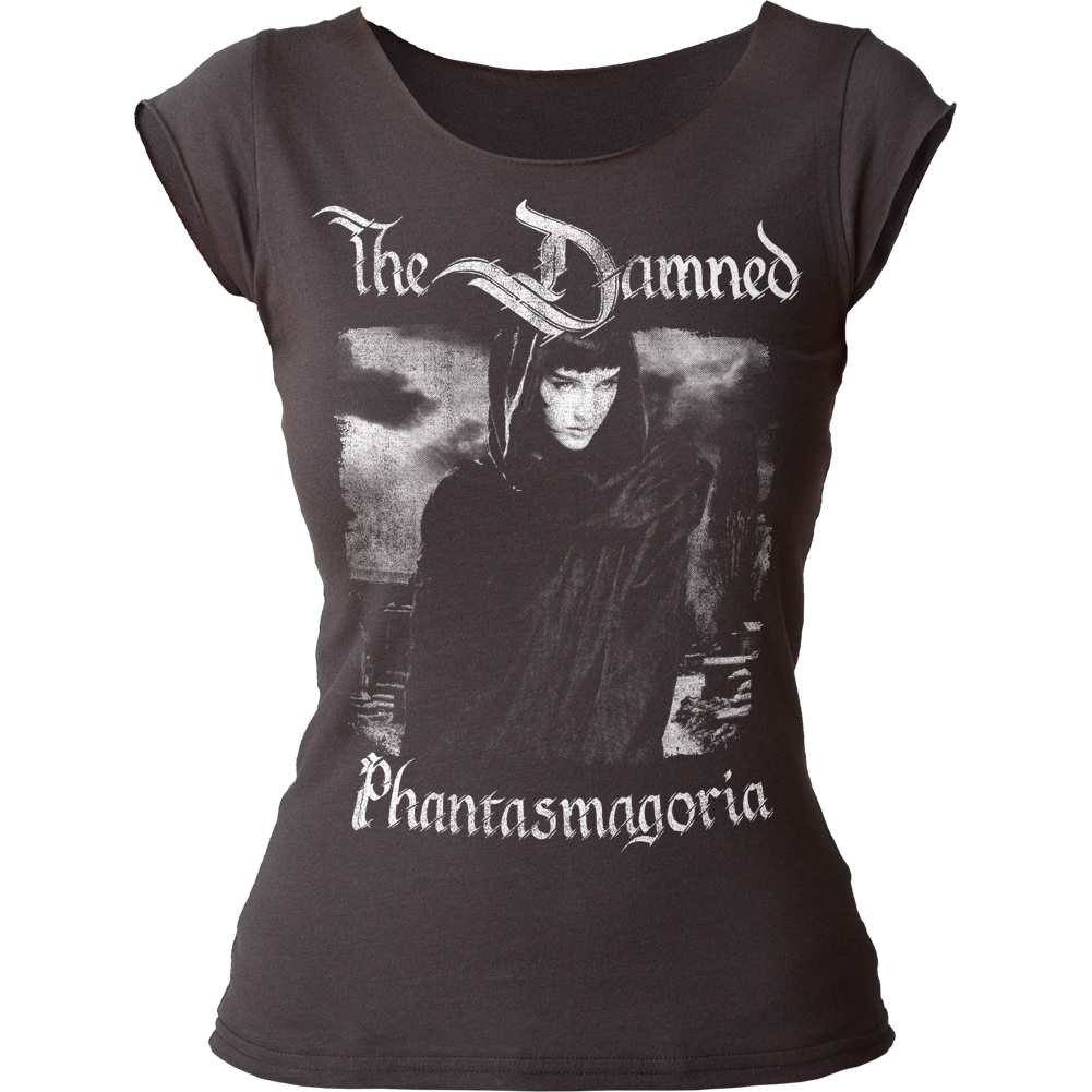 The Damned English Rock Band Phantasmagoria Juniors Cut T-Shirt Tee