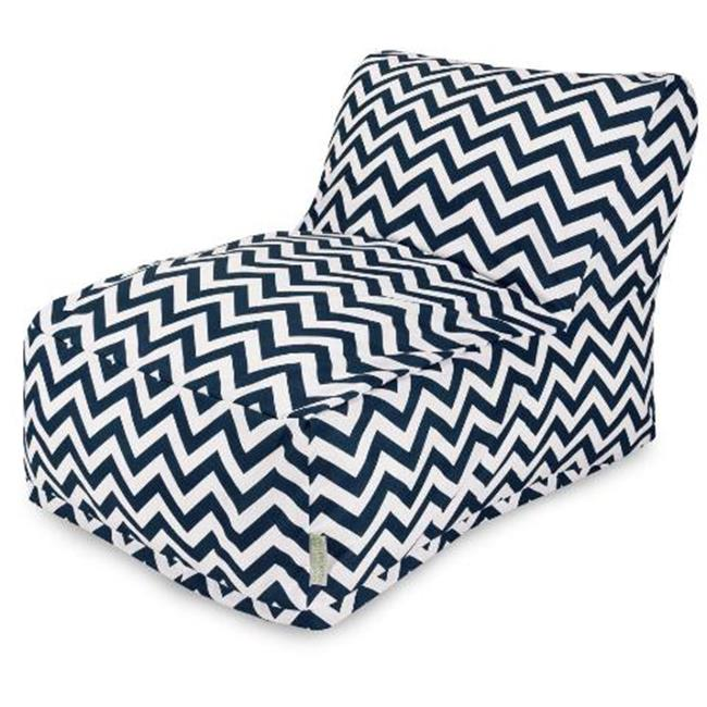 Majestic Home Navy Chevron Bean Bag Chair Lounger