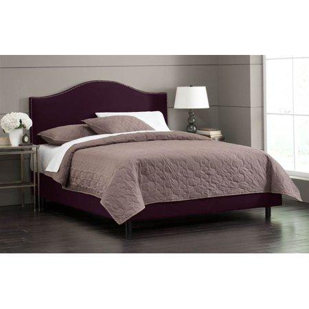 Nail Button Bed w Foam Padding in Purple (Queen) - Walmart com