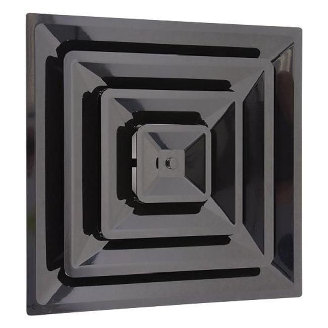 Havaco Technologies HT-2X2-SPL-12-BK Quick Connect 2 X 2 ft. Black Plastic Supply Drop In with 12 in. Boot - image 1 de 1
