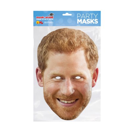 Prince Harry Royal Facemask � Costume Accessory - Size One Size