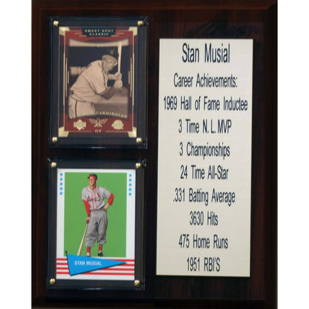 C&I Collectables MLB 8x10 Stan Musial St. Louis Cardinals Career Stat Plaque
