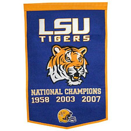 LSU Tigers Winning Streak Genuine Wool Dynasty Banner (24