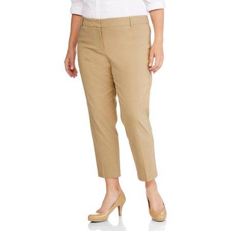 fe6e81a99a446 George - Women s Plus-Size Millennium Suiting Pant - Walmart.com