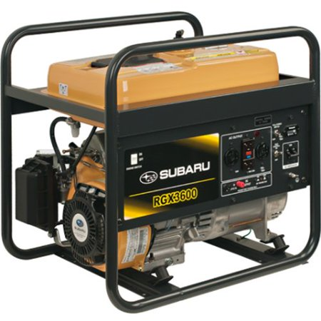Subaru Rgx3600 7 0 Hp Gas Powered Industrial Generator  3600W