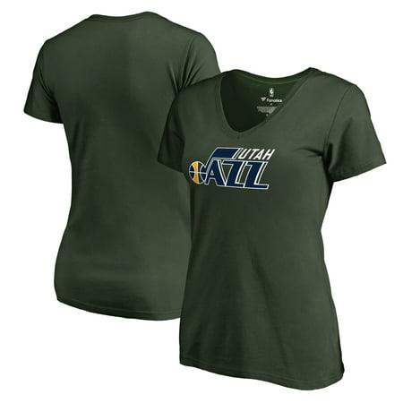 Utah Jazz Logo (Utah Jazz Fanatics Branded Women's Primary Logo V-Neck T-Shirt -)