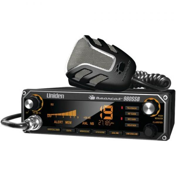 1 CB Radio with SSB, 7-color backlighting, Noise-canceling microphone, BEARCAT 980SSB by Uniden