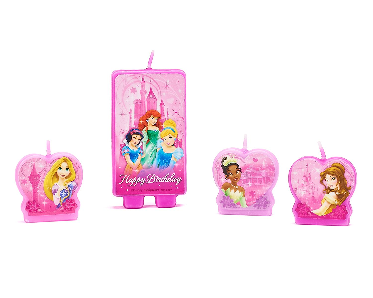 Disney Princess Birthday Party Cake Candle Set, 1\
