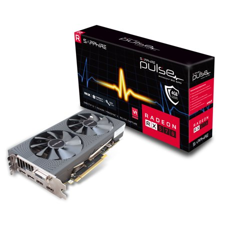 Gddr5 Gpu Memory (Sapphire PULSE RX 570 GPU 4GB GDDR5 PCI-E DUAL HDMI / DVI-D / DUAL DP OC Gaming Bundle Included - 11266-04-20G )