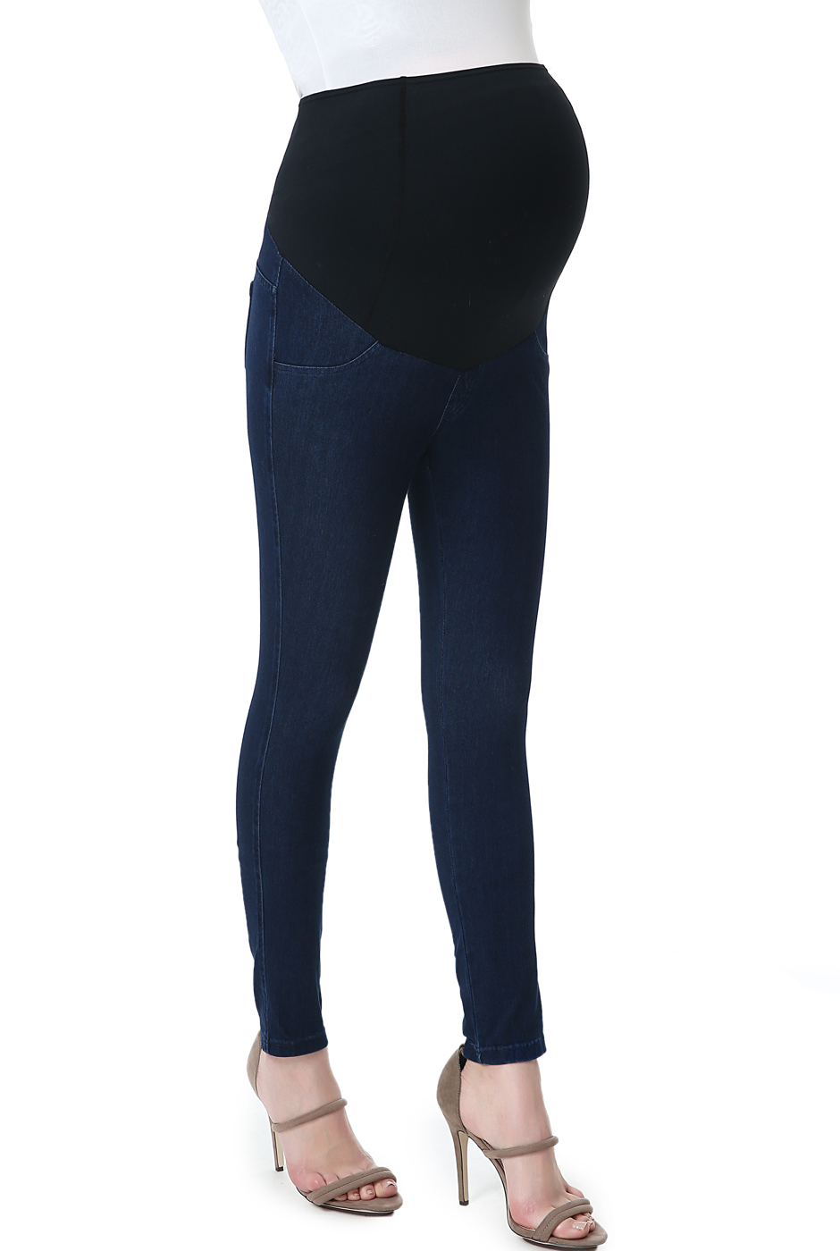 "Maternity Women's Jeggings (26"" Inseam) - Denim Jeans Blue XL"