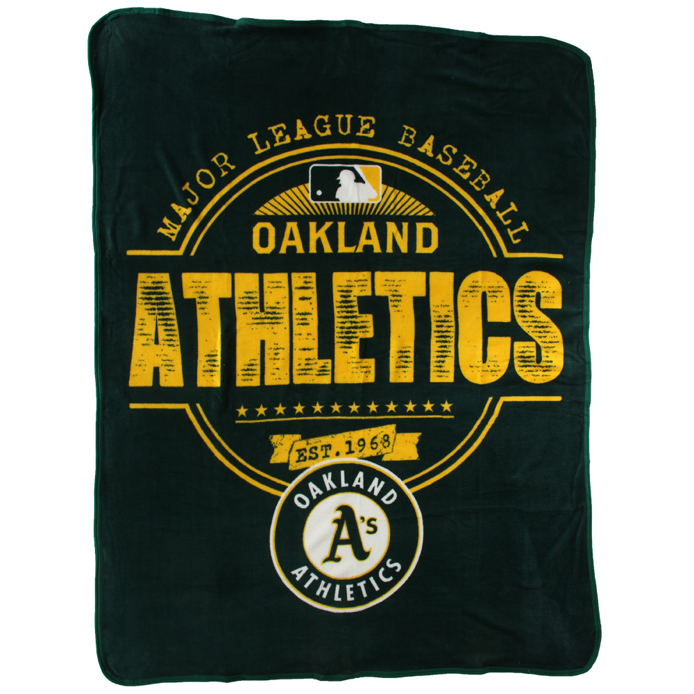 "Oakland Athletics The Northwest Company 46"" x 60"" Structure Micro Raschel Plush Blanket - No Size"