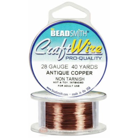 Antique Copper 28GA Craft Wire Jewelry Beading Wrapping 40 Yds 36.5 ...