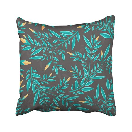CMFUN Blue Leaf Floral with Small Pattern Quirky Scroll Abstract Baroque Beautiful Berries Pillow Case Pillow Cover 16x16 inch Throw Pillow - Berry Scroll