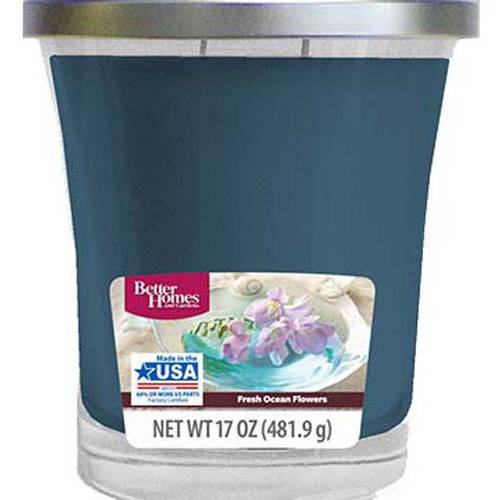 Better Homes and Gardens Fresh Ocean Flowers Candle, 17 oz by WAL-MART STORES INC