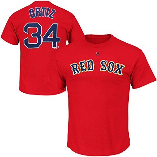 David Ortiz Youth Boston Red Sox Alternate Red Name and Number Jersey T-shirt