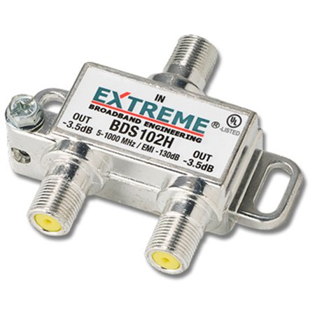 Extreme 2 Way HD Digital 1Ghz High Performance Coax Cable Splitter - Digital Cable Splitter