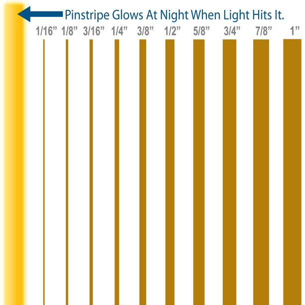 1 8 Wide Reflective Pinstripes Gold Custom Vinyl Pinstriping Tape Decal Stripes Walmart Com Walmart Com