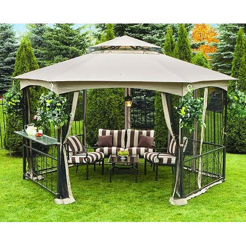 Garden Winds Replacement Canopy Top for Vineyard Hexagon Gazebo - Riplock 350