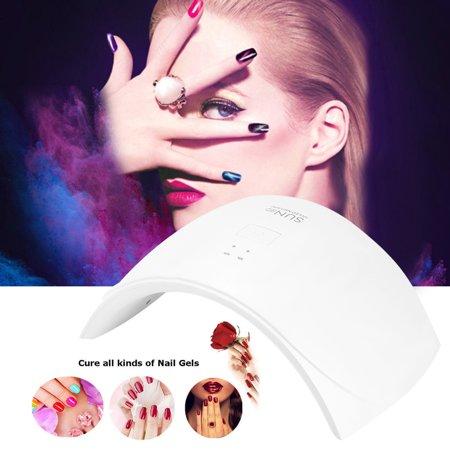 Dioche 24W UV Light LED Nail Dryer Curing Lamp for Fingernail & Toenail Gels Based Polishes with Sensor, 30s 60s Timer ()