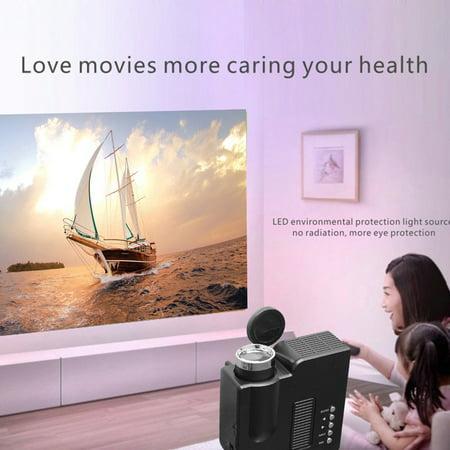 UC28B Mini Portable LED Projector 1080P HD Family Cinema Support PC ...