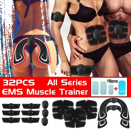 32Pcs/Set All Series Body Muscle Training Professional EMS Wireless Body Gym Workout Toner For Arm / Leg / ABS / Back / Hip (With Replacement
