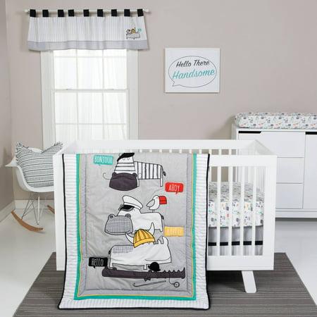 Trend Lab Hello 4 Piece Crib Bedding Set
