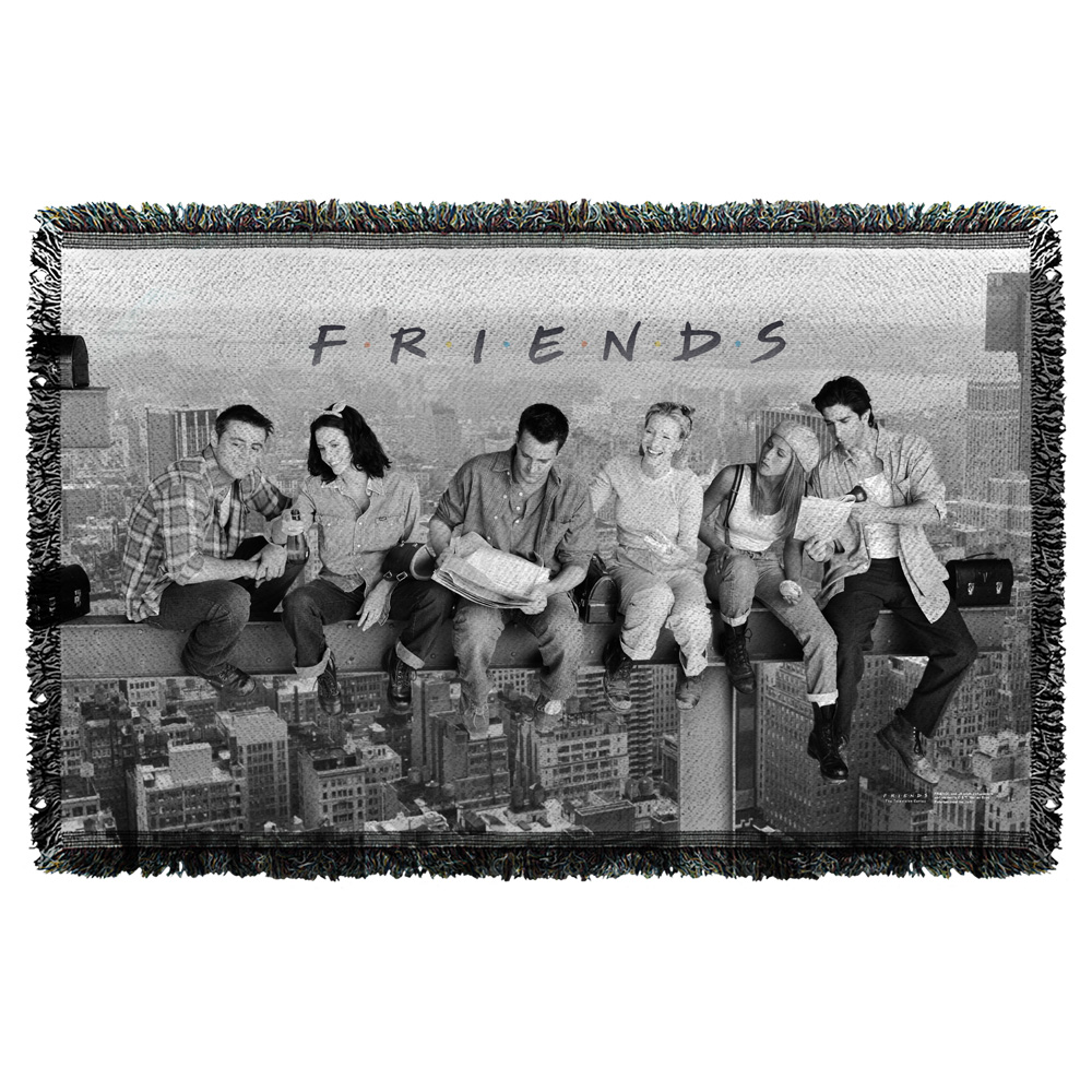 Friends Break Time Woven Throw Tapestry 36X60 White One Size
