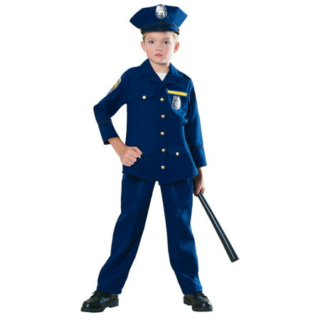 Police Officer Kids Costume - Girl Police Officer Halloween Costume